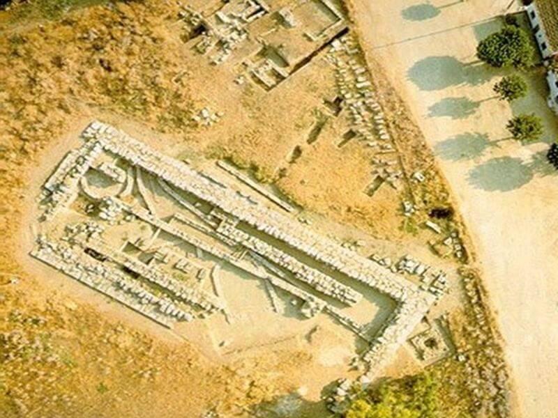 εικόνα ναός δαφνηφόρου απόλλωνα ερέτρια εύβοια