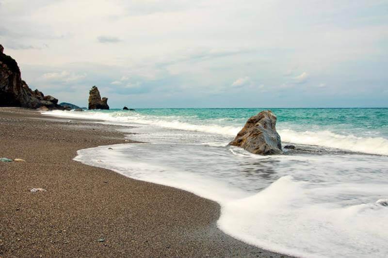 παραλία μετόχι κύμη εύβοια
